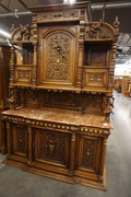 Walnut Henry II buffet with jesters